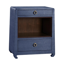 Ming Blue Contemporary Nightstand