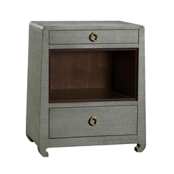 Ming Green Contemporary Nightstand