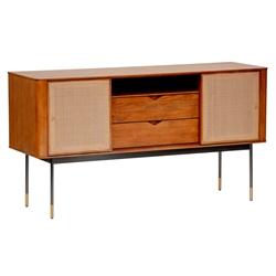 Miriam Contemporary Brown Sideboard by Euro Style