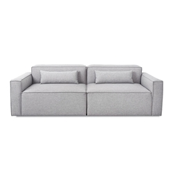 Mix Modular 2 Piece Sofa in Parliament Stone by Gus Modern