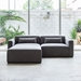 Mix Modular 3 Piece Sectional in Vintage Smoke Upholstery by Gus* Modern