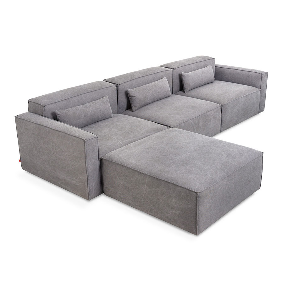 Mix Modular 4 Piece Sectional in Vintage Smoke by Gus* Modern