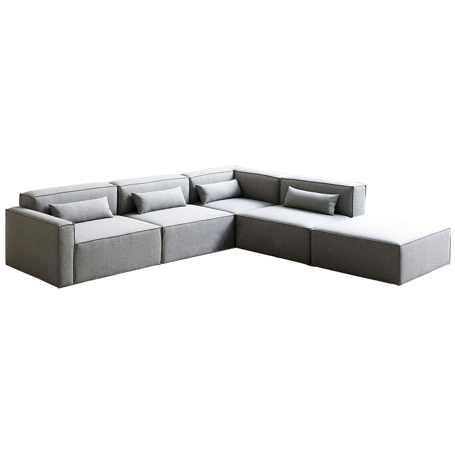 Mix Modular 5 Piece Sectional in Parliament Stone by Gus* Modern