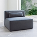 Mix Modular Armless Contemporary Lounge Chair in Berkeley Shield by Gus* Modern