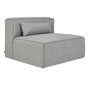 Mix Modular Armless Contemporary Lounge Chair in Parliament Stone by Gus* Modern