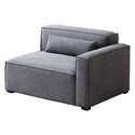 Mix Modular Right Facing Arm Chair in Vintage Smoke by Gus* Modern