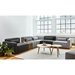 Gus Modern Mix Modular Sectional - Dark Gray is Vintage Mineral