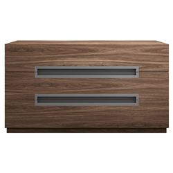 Modloft Monroe Modern Dresser in Walnut Wood