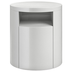 Modloft Mulberry Modern Nightstand in Glossy White