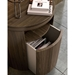 Modloft Mulberry Modern Nightstand in Walnut Wood - Room Setting, Detail