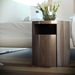 Modloft Mulberry Modern Nightstand in Walnut Wood - Room Setting