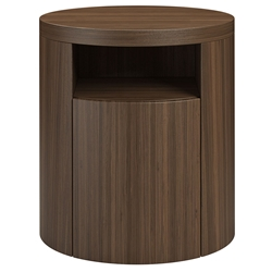 Modloft Mulberry Modern Nightstand in Walnut Wood