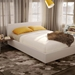 Muro Upholstered Bed by Amisco in Oyster