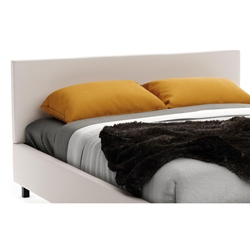 Muro Contemporary Upholstered Headboard in Oyster Fabric by Amisco