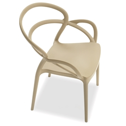 Nadir Taupe Modern Indoor Outdoor Arm Chair by Pezzan