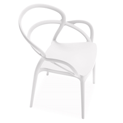 Nadir White Modern Indoor Outdoor Arm Chair by Pezzan