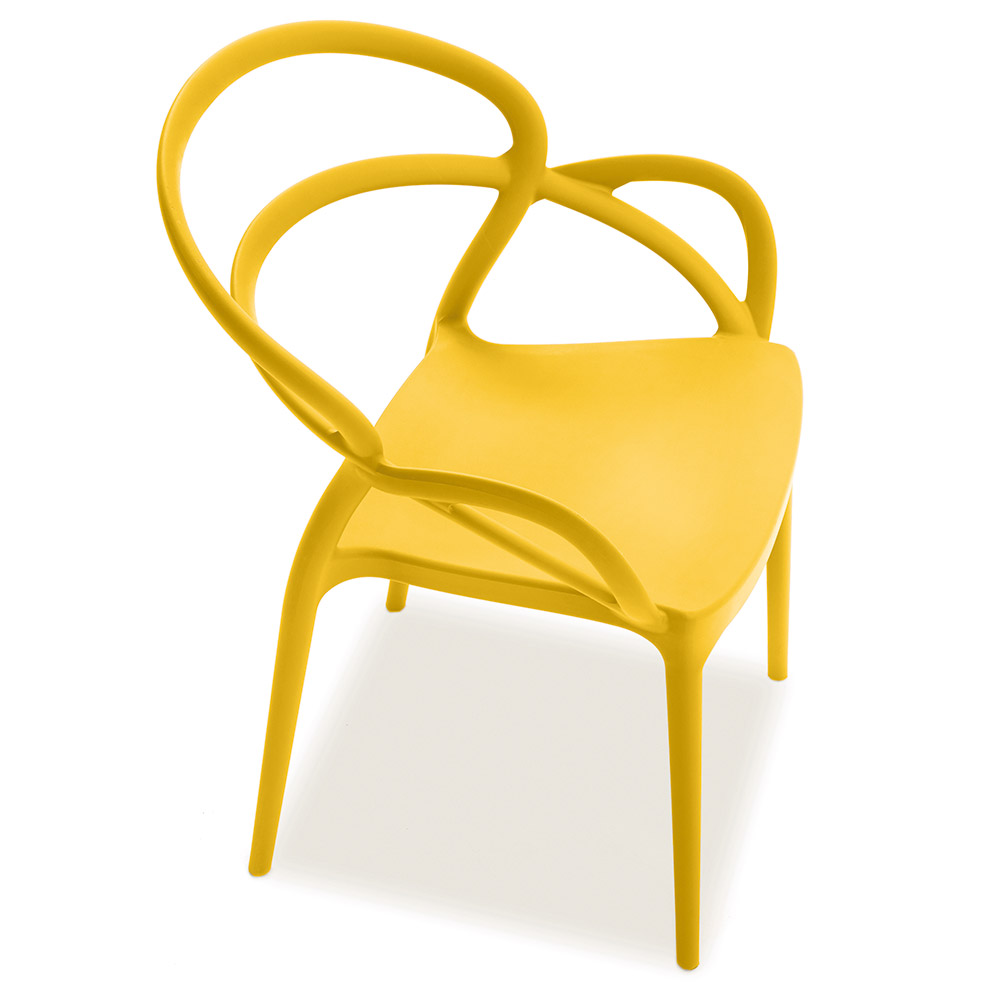 Nadir Yellow Modern Indoor Outdoor Arm Chair by Pezzan