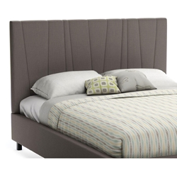 Namaste Contemporary Upholstered Headboard in Slate Fabric