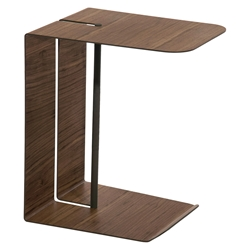 Modloft Black Nassau Modern Side Table in Walnut