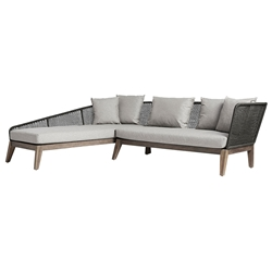 Modloft Netta Modern Outdoor Left Facing Sectional