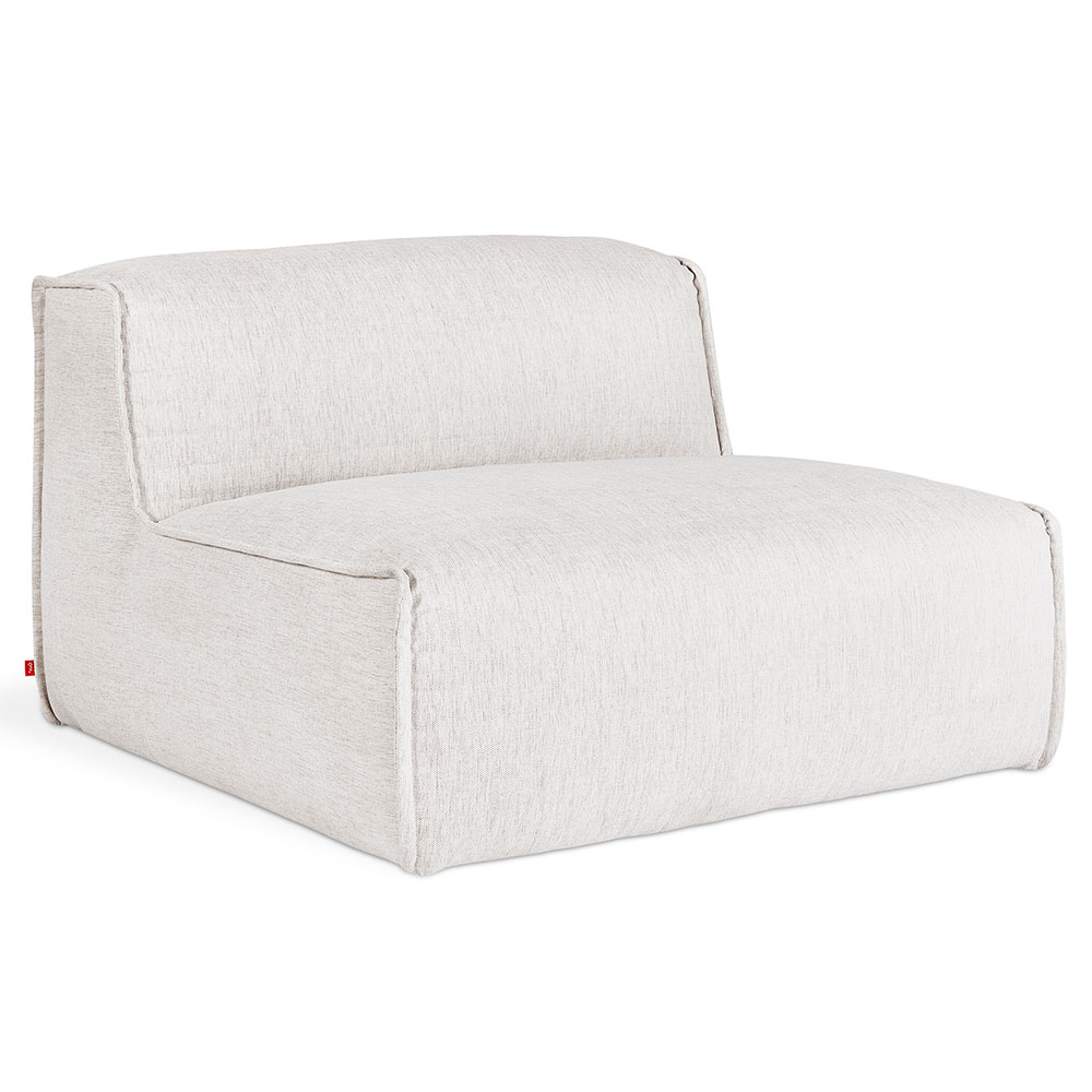 Nexus Modular Armless Contemporary Lounge Chair in Thea Moonstone by Gus* Modern