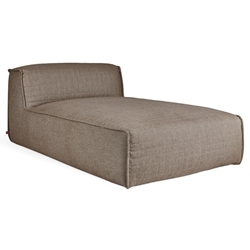 Gus* Modern Nexus Modular Chaise in Thea Earth Fabric