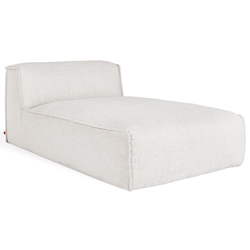 Gus* Modern Nexus Modular Chaise in Thea Moonstone Fabric