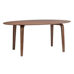 Niels Contemporary Walnut Dining Table