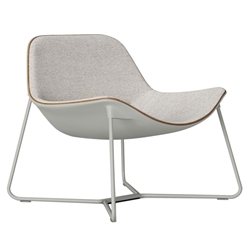 Modloft Black Oakley Modern Lounge Chair in Oatmeal Fabric