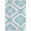 Obi 3'x5' Rug in Aqua and Cream