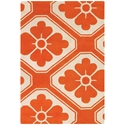 Obi 3'x5' Rug in Orange and Cream