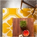 Obi Yellow Pattern Rug Detail