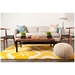 Obi Floral Pattern Rug in Yellow