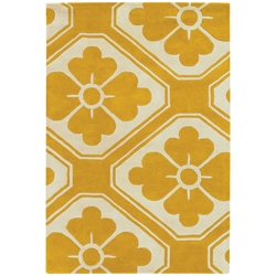 Obi 5x8 Rug in Yellow and Cream