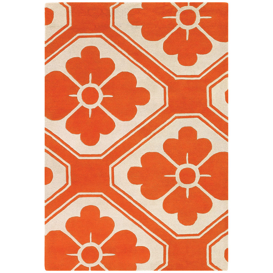 Obi 8'x10' Rug in Orange and Cream