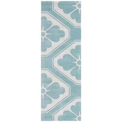 Obi Runner Rug in Aqua