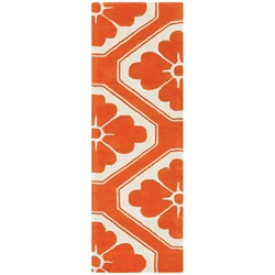 Obi Runner Rug in Orange