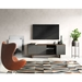 BDi Octave Toasted Walnut + Gray Perforated Steel 4 Door Modern Media Console - Lifestyle Front