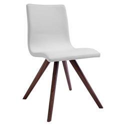 Olga White Contemporary Dining Chair