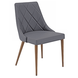 Olin Modern Gray Side Chair by Euro Style