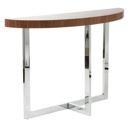 Contemporary Console Tables - Oliver Console Table Walnut