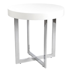 Oliver Modern End Table in White