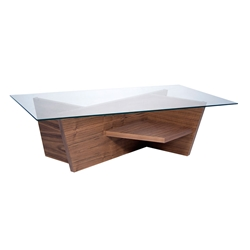 Oliva Walnut Contemporary Coffee Table