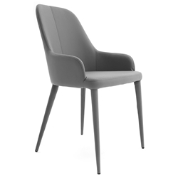Olympia Anthracite Modern Dining Arm Chair by Pezzan