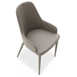Olympia Taupe Modern Dining Arm Chair by Pezzan