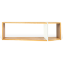One White + Oak Modern Shelving Module