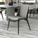 Modloft Black Orchard Dining Chair in Warm Gray Leather with Black Wood - Lifestyle