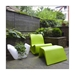 Otto White Outdoor Planter and Ottoman by Offi & Company