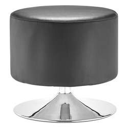 Palmiro Black Contemporary Ottoman