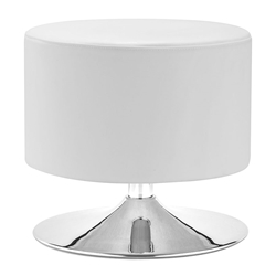 Palmiro White Contemporary Ottoman